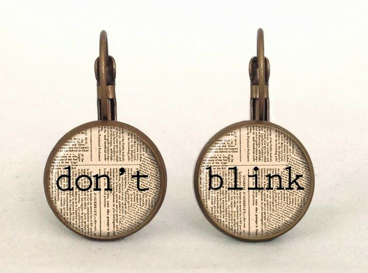 DOCTOR WHO - DON'T BLINK Earrings, 0203ERB from EgginEgg by DaWanda.com