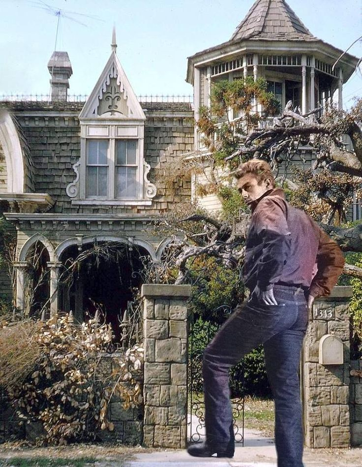 James Dean the Giant entering 1313 Mockingbird Lane
