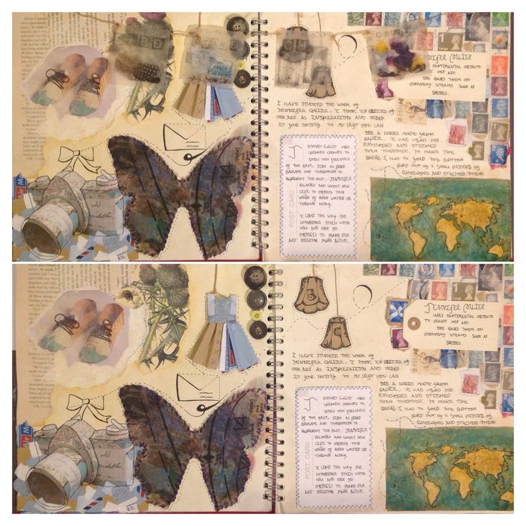 Jennifer Collier journal pages