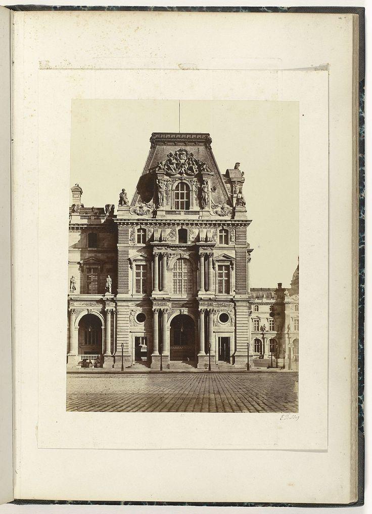 Édouard Denis Baldus | Paviljoen Turgot van het Louvre, Édouard Denis Baldus, c. 1857 |