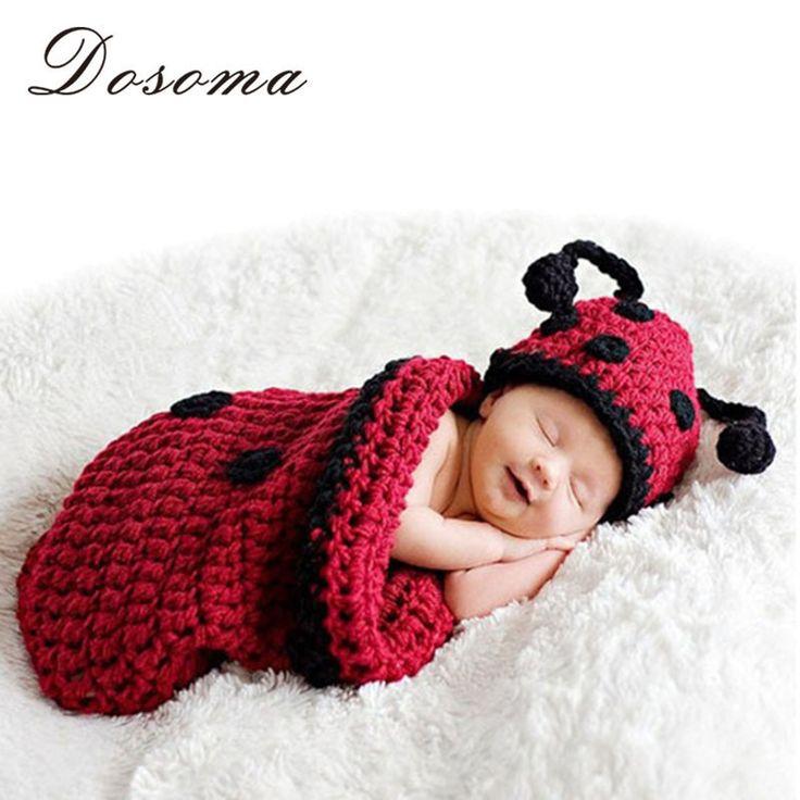 2015 neue Heiße verkauf! Neugeborenen fotografie requisiten Infant Tier Schlafsack Stricken Häkeln Kostüm baby Weiche Entzückende Kleidung(China (Mainland))