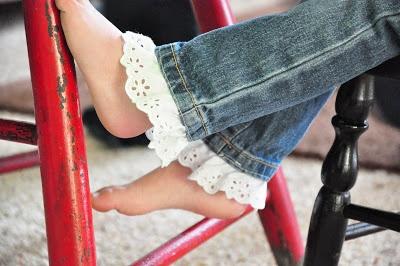 cute way to make kids' pants longer
