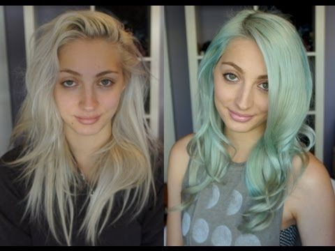 Mint Pastel Hair Tutorial with Brittany Balyn (HD)