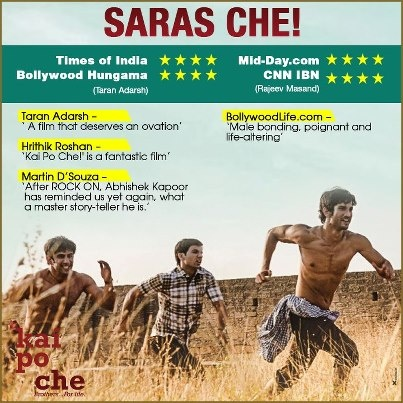 Everyone who's watched Kai Po Che is raving about it. We are waiting to hear from you.