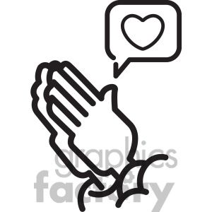 Social media praying hands for likes vector icon #prayinghands #pray #love #praying #religion #humanity