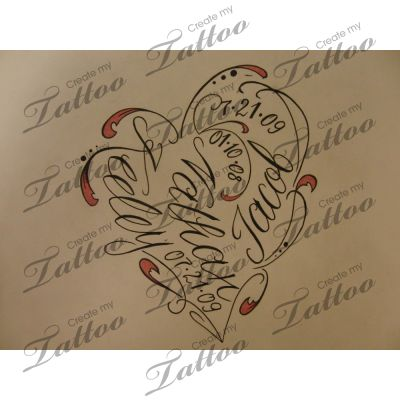 Tattoo with children's names.......love this!!!!!