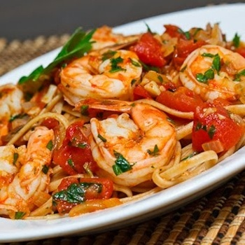 Shrimp Linguine in a Tomato & White Wine Sauce Recipe - ZipList