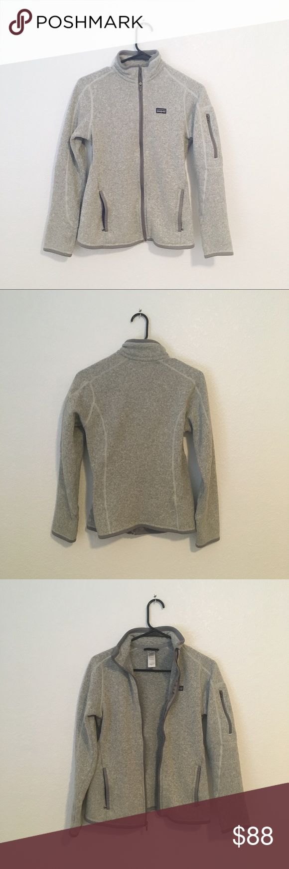 Patagonia Better Sweater Full Zip Jacket in Grey Patagonia Better Sweater full zip jacket in birch white (grey). Excellent used condition, only flaw is some pilling as is usual with these sweaters (see last photo). Very popular color that never goes on sale.  xx NO TRADES xx NO OFFSITE TRANSACTIONS 🌿 Patagonia Sweaters