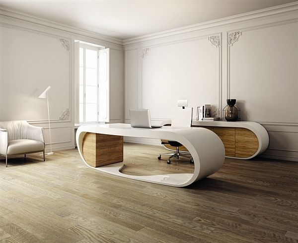 Danny Venlet gets the credit for developing the spectacular design for the Goggle desk by Italian furniture company Babini.