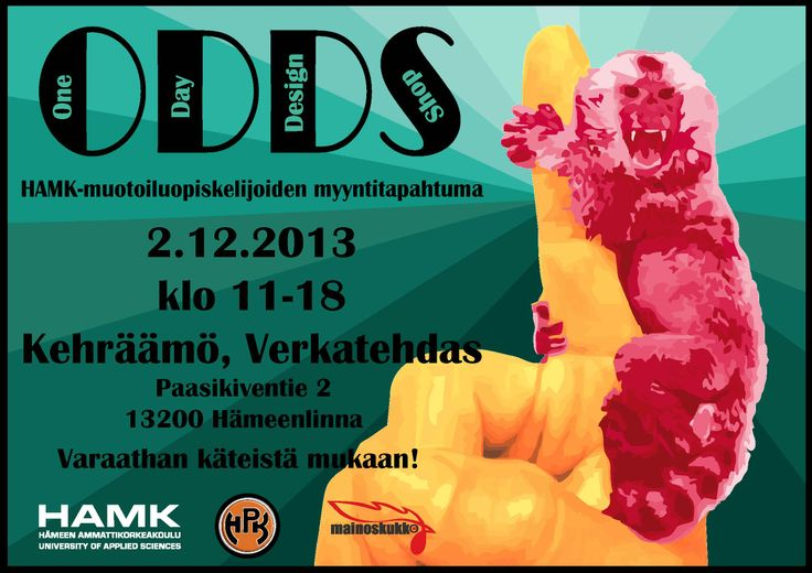 One Day Design Shop on Monday 2 December at Verkatehdas, Hämeenlinna, Finland. Welcome!