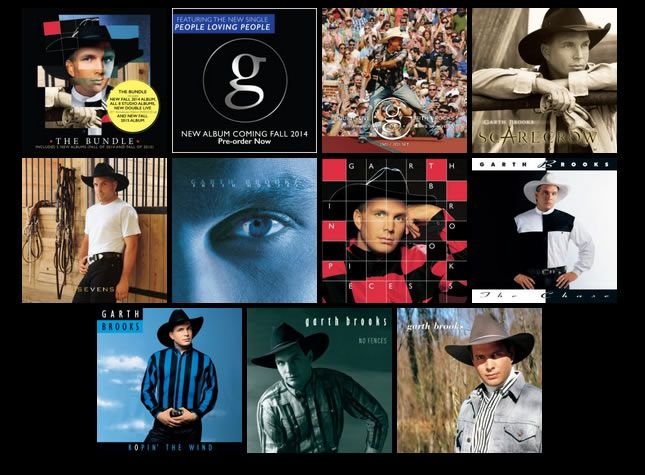 As promised, Garth Brooks has launched his digital music store featuring all of his albums and then some. The digital package contains all eight studio albums (Garth Brooks, No Fences, Ropin' The W...