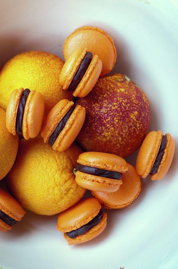 Chocolate Orange Macarons // eat. live. travel. write. LOVE this shot.
