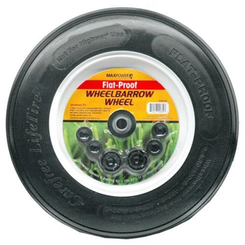 Max Power 335278 Flat-Free Wheelbarrow Wheel