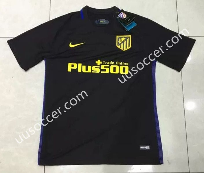 2016-17 Atletico Madrid Away Black Thailand Soccer Jersey AAA