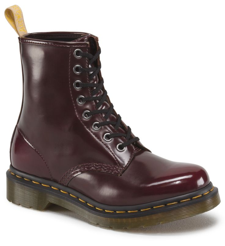 Cherry Red vegan Doc Martens were recalled as a Benzidine exposure risk! Contact info for replacement or refund in the link.