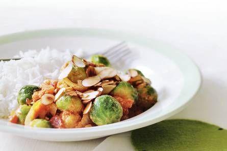 Geroerbakte spruitjes in curry