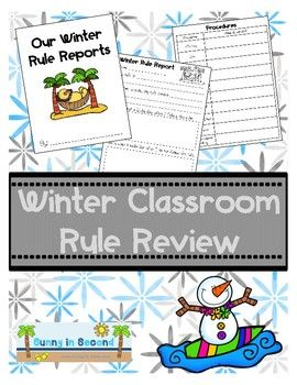 If your students are like mine, they completely forget the rules and procedures after Winter Break and need a reminder. This is a great resource to remind your students of appropriate behaviors in your classroom.  It is a great reminder for students half way through the year and will help prepare you for success for the rest of the year!