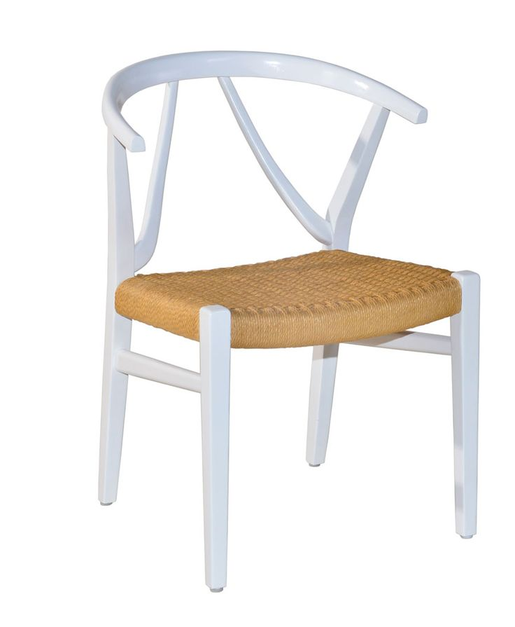 W-Chair in white. with Danish Cord weaving.