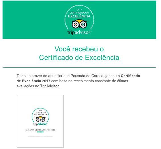 É com imenso prazer que anunciamos que a Pousada do Careca mais um ano recebe o Certificado de Excelência pelo TripAdvisor, essa vitória devemos a vocês, NOSSOS HÓSPEDES.  Estamos sempre trabalhando para melhor atende-los.  Muito obrigado Equipe Pousada do Careca  #exposição #evento #festival #música #fotografia #arte #cultura #turismo #VisiteParaty #TurismoParaty #Paraty #PousadaDoCareca #PartiuBrasil #MTur #boatarde #boatardee #bomdia #boanoite #praia #sol #mar #cachoeira #TripAdvisor