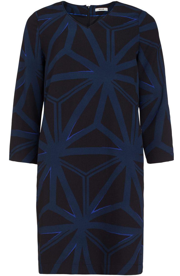 Blauwe chique jurk Anna van Toor