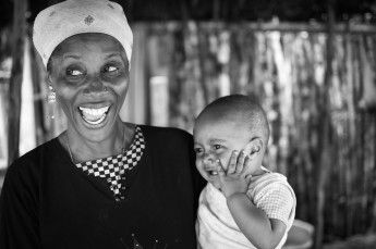 Mother and her baby in Lamu, Kenya