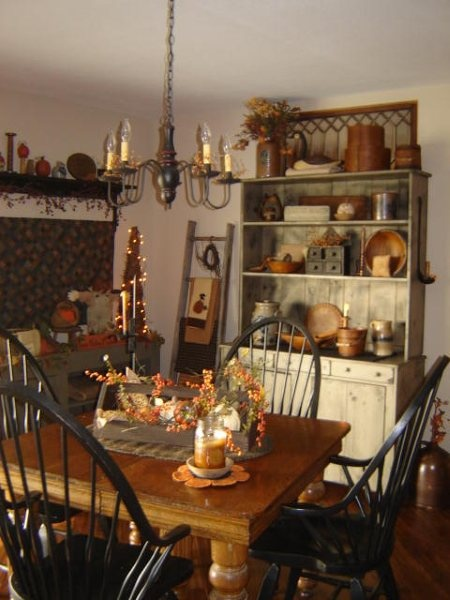 226 Best Primitive Dining Rooms Images On Pinterest  Kitchen Fair Primitive Dining Room Sets Review