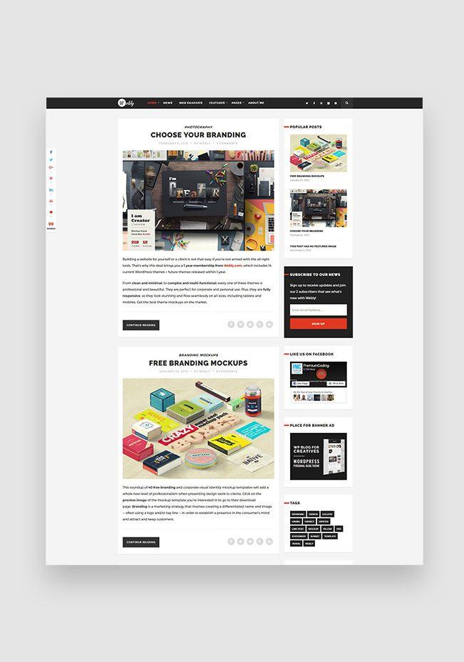 24 best WordPress Themes images on Pinterest | Wordpress template ...