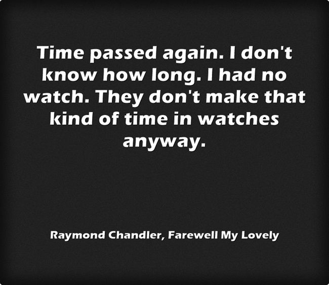 Raymond Chandler, Farewell My Lovely