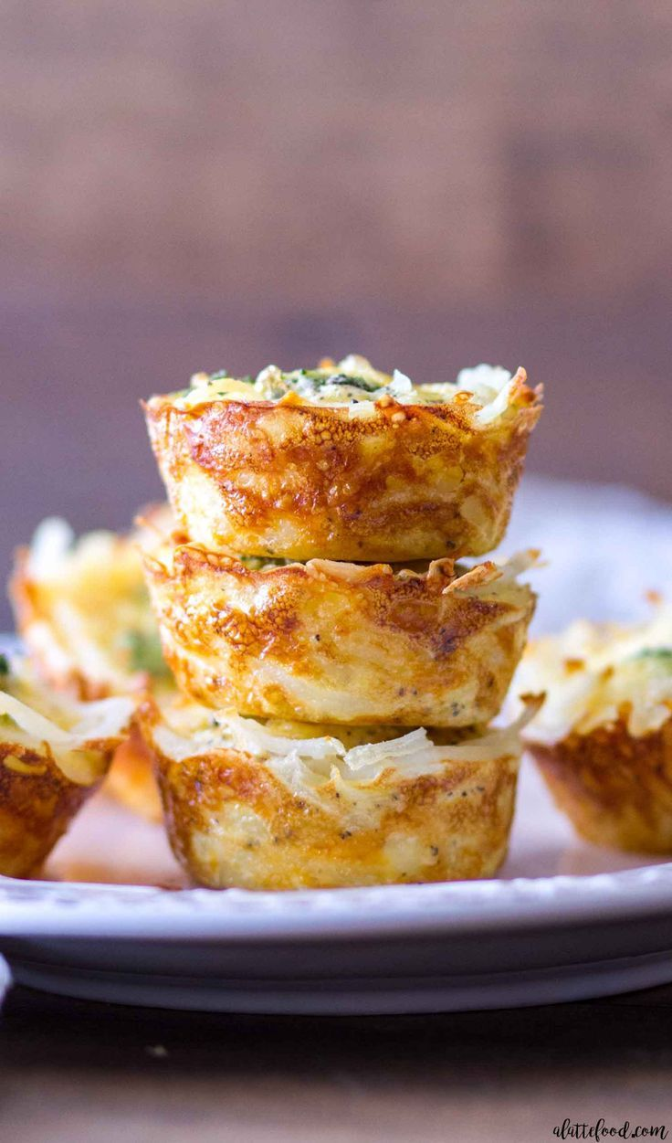 This homemade quiche recipe is for Hash Brown Crusted Broccoli and Cheddar Quiche Cups. These mini broccoli and cheddar quiche cups use hash browns for the crust instead of pastry dough, which is a fun and unique twist on the classic quiche recipe! Plus, the hash browns are golden brown, crispy, and make these mini quiche cups naturally gluten free! #GlutenFree #BreakfastIdeas #BrunchIdeas #PartyFoods #Appetizers