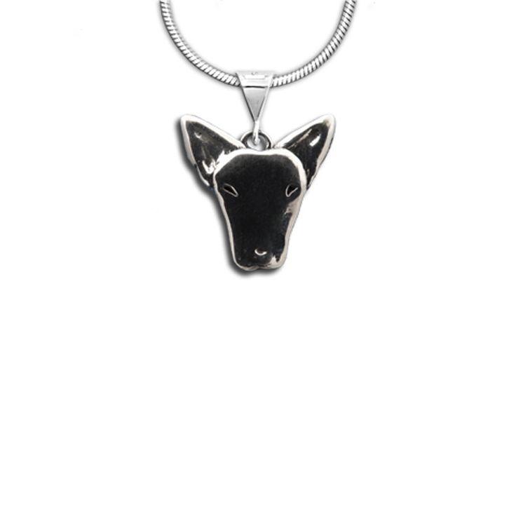 Sterling Silver Bull #Terrier Pendant: http://www.themagiczoo.com/sterling-silver-bull-terrier-pendant.html $39