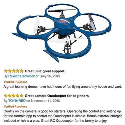 UDI U818A WiFi FPV RC Quadcopter Drone with HD Camera – VR Headset Compatible – Headless Mode, Low Voltage Alarm, Gravity Induction – Includes BONUS BATTERY + Power Bank