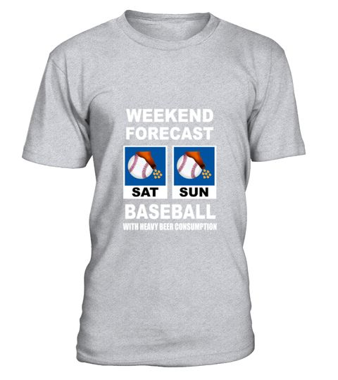 Baseball Funny Weekend Forecast T-Shirt