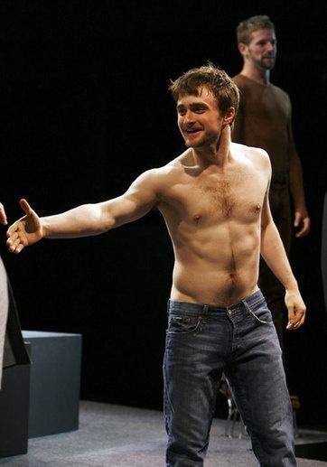 Daniel Radcliffe on Broadway in 'Equus'.