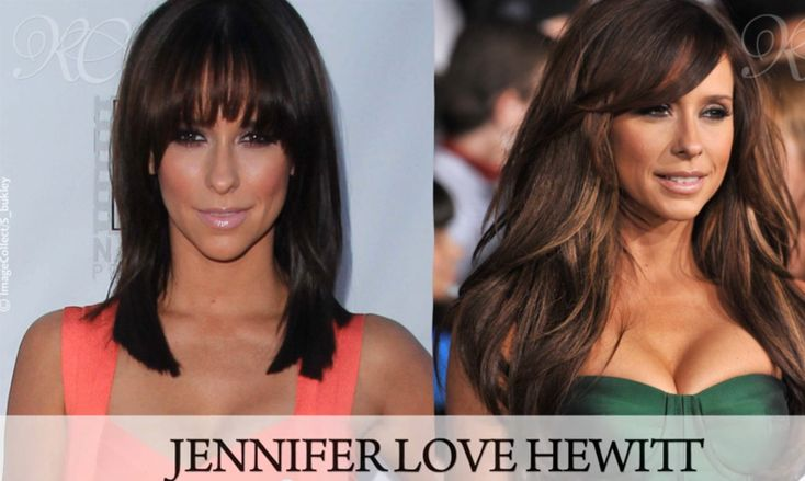 Before and After shot of Jennifer Love Hewitt's Hair Extensions