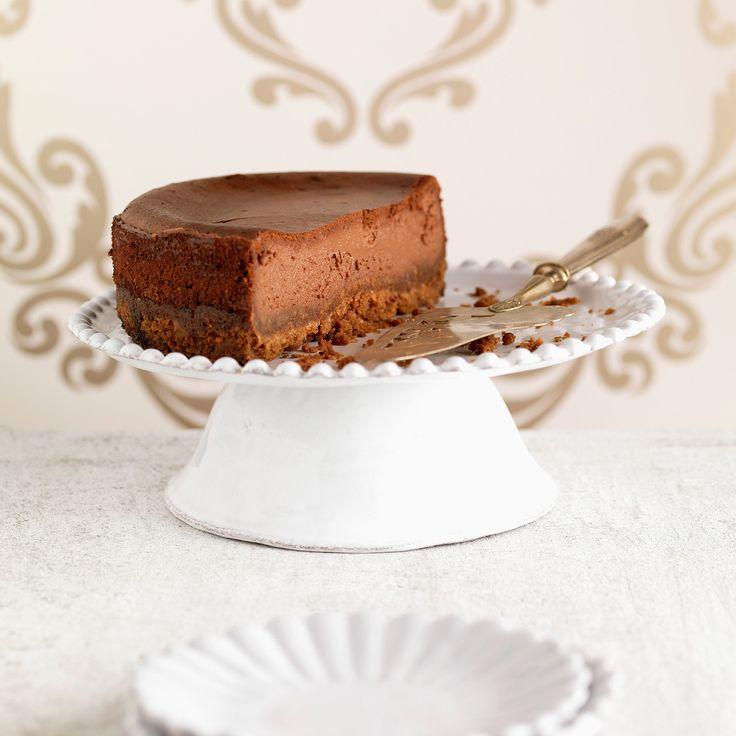 Découvrez la recette Cheesecake au chocolat et au café sur cuisineactuelle.fr.