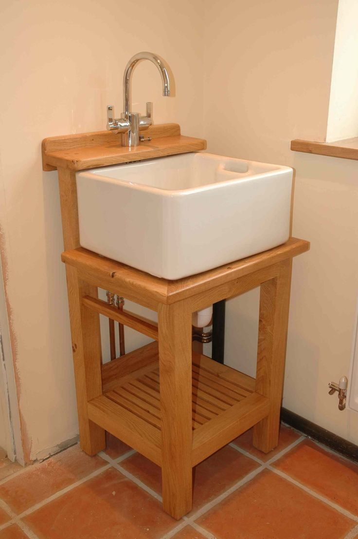 Washstand for small Belfast sink
