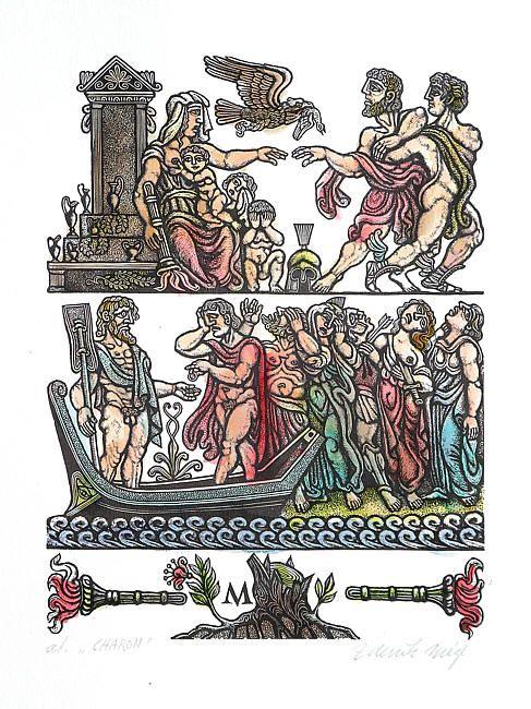 Zdeněk Mézl - Kolorované dřevoryty ::: II ::: Galerie ART Chrudim