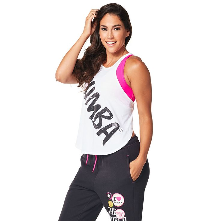 BACK IN MY CITY TANK - WEAR IT OUT WHITE --------------- Take a bite out of the Big Apple in the Back in My City Tank!  With adjustable straps on the back of the shirt and slightly curved front hem, this fashion-forward top is a must-have! Zumba Tank.