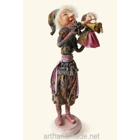 Doll Skomorokh. Author Elena Goptareva - http://arthandmade.net/goptareva.elena  Doll, souvenir doll, interior doll, handmade doll, gift, original gift, handmade, craft, collection, Gallery Magical World, кукла, сувенирная кукла, интерьерная кукла, кукла ручной работы, подарок, оригинальный подарок, ручная работа, коллекция, Галерея Волшебный мир