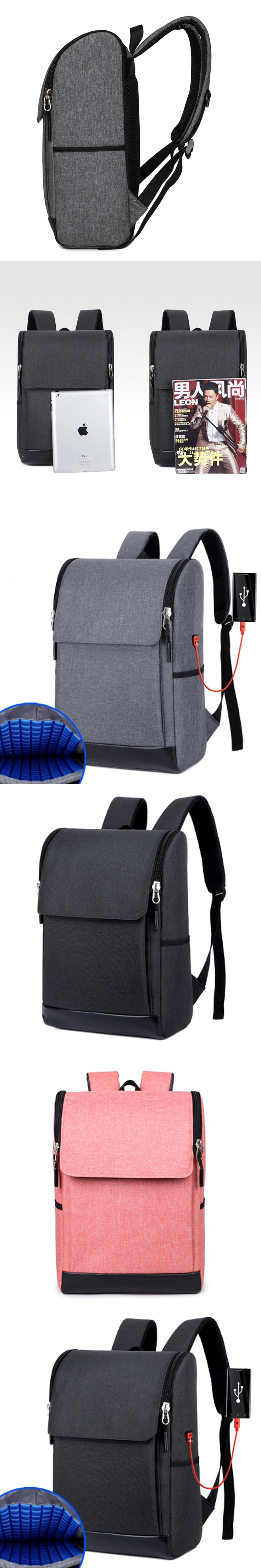 Laptop Backpack External USB Charge Computer Backpacks Anti-theft Waterproof Bags For Macbook Lenovo Samsung Acer For Men Women