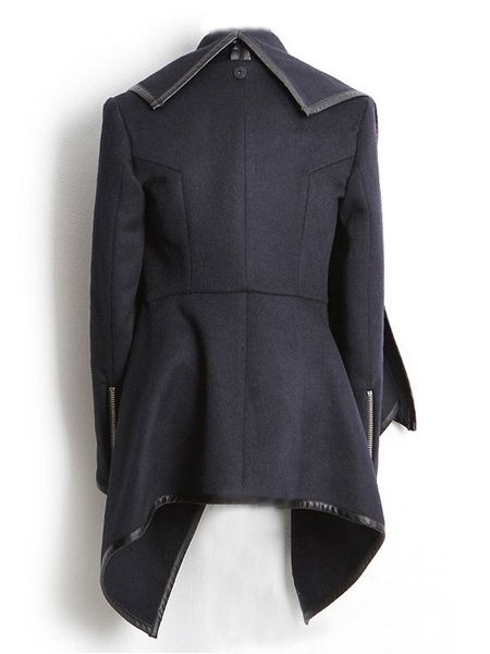Chic Band Collar Cotton Assorted Color Overcoat
