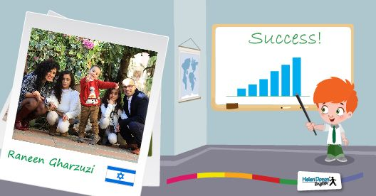 Raneen Gharzuzi, from Tarshiha, Israel has experienced the Helen Doron English world from all angles: as a franchisee, as a teacher and as the proud parent of three Helen Doron students. The multicultural mom's native tongue is Arabic, which is the language spoken at home and she also speaks fluent Hebrew and of course, English.    #ESL   #EFL   #HelenDoronEnglish