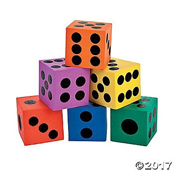 Roll out the fun with these Playing Dice. A great addition to your home and classroom supplies, use these foam dice during board games, educational games, ...