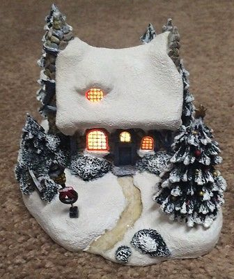 Thomas Kinkade Stonehearth Hutch Light Up Cottage 2001