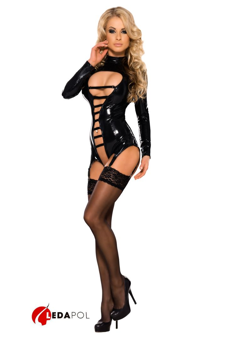 Seductive crotchless body made of datex.