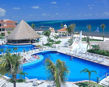Moon Palace, Mexico.  We were there almost 10 years ago on our honeymoon. =)