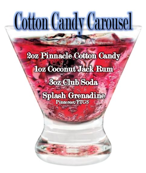 Cotton Candy Vodka Drink - Wow!