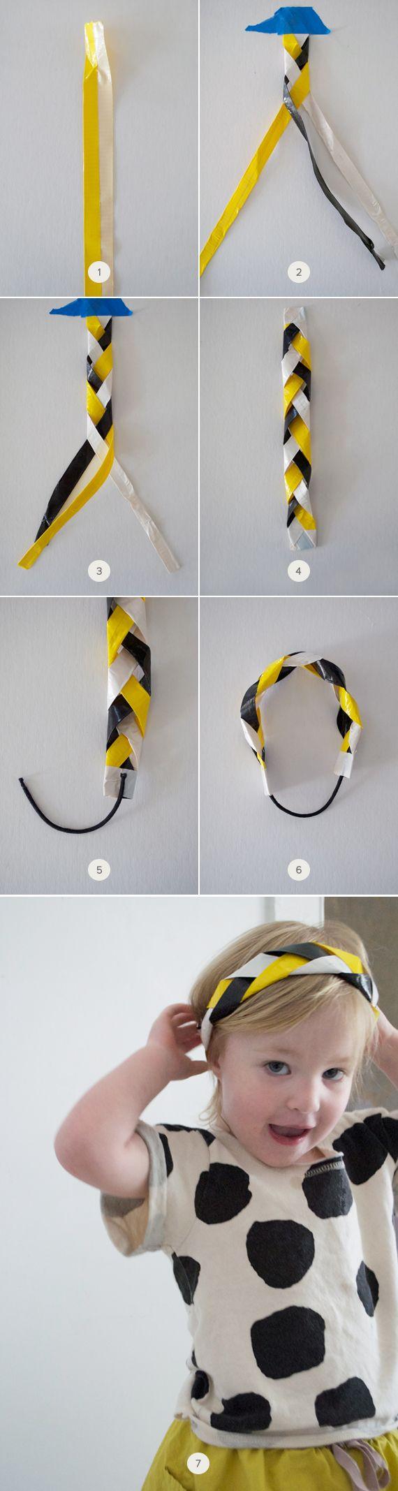 DIY: Braided Duct-Tape Headband