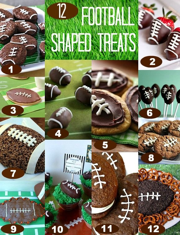 Football Shaped Treats for the Super Bowl_  The big game is just about here…the Super Bowl! Are you cheering on the 49ers or the Ravens? Me? I like it for the food. We have shared 50 Super Bowl Recipes and also some Super Bowl Snackin' ideas, but of course, we love dessert around here. So what's better than Football Shaped Treats?