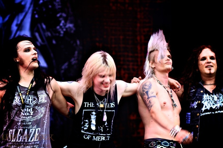 Swedish sleaze band Crashdiet! I saw them first at Sweden Rock Festival 2011, and then on the Aussie tour later that year.. they are awesome!